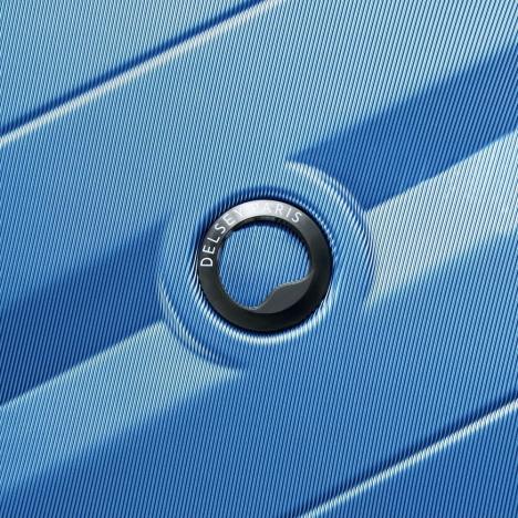 چمدان-دلسی-مدل-comete-plus-آبی-304182112-نمای-لوگو-دلسی