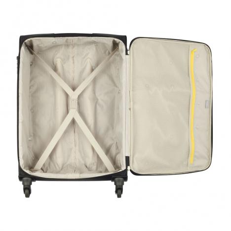چمدان دلسی مدل 344382100 نمای کامل از داخل چمدان از قسمت بالا