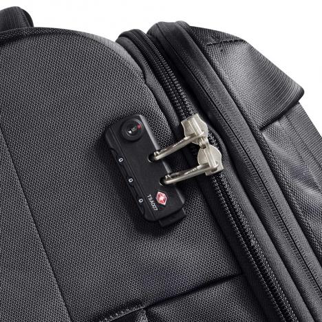 چمدان-دلسی-مدل-flight-lite-مشکی-23380100-نمای-زیپ