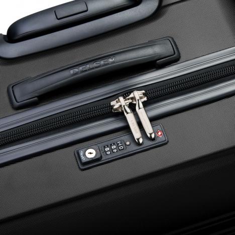 چمدان-دلسی-مدل-segur-مشکی-205882200-نمای-زیپ