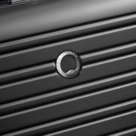 چمدان-دلسی-مدل-segur-مشکی-205883000-نمای-لوگو-دلسی