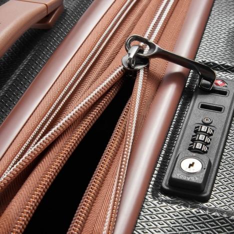 چمدان-دلسی-مدل-st-tropez-مشکی-208780100-نمای-زیپ-باز
