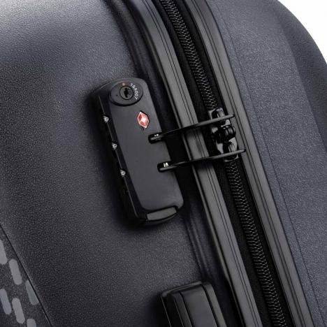 چمدان-دلسی-مدل-تاسمان-310080100-مشکی-نمای-زیپ