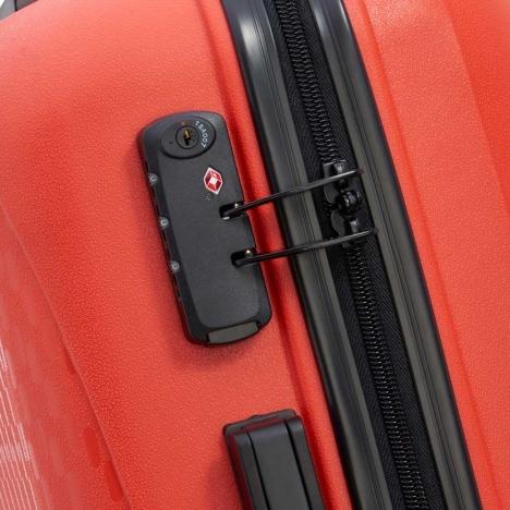 چمدان-دلسی-مدل-TASMAN-نارنجی-310082125- نمای-زیپ