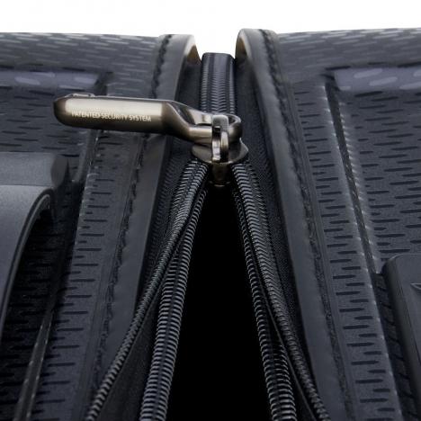 چمدان-دلسی-مدل-turenne-مشکی-162183000-نمای-زیپ-باز-شده