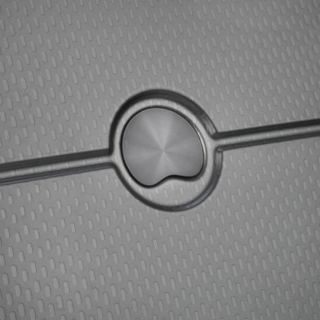 چمدان-دلسی-مدل-turenne-خاکستری-162180111-نمای-لوگو-دلسی