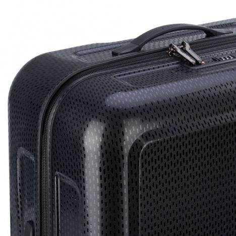 چمدان-دلسی-turenne-مشکی-نمای-نزدیک-کناری