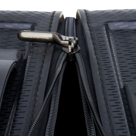 چمدان-دلسی-turenne-مشکی-نمای-زیپ